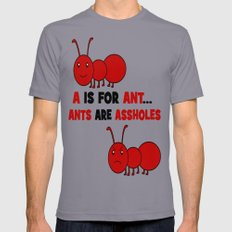 A is For Ant Slate Mens Fitted Tee LARGE