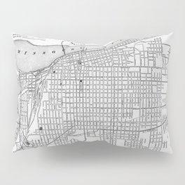 Vintage Map of Kansas City Missouri (1901) BW Pillow Sham