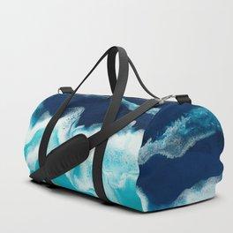 Tsambou, a beach on Samos island, Greece; Resin abstract painting Duffle Bag