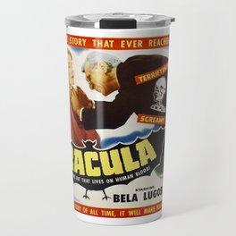 Dracula, Bela Lugosi, vintage horror movie poster Travel Mug