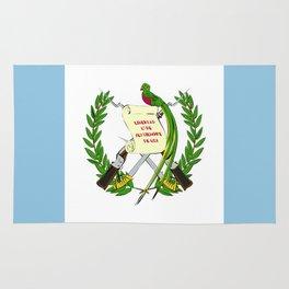 Guatemala flag emblem Rug
