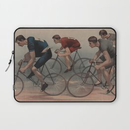 Vintage Cyclist Race Illustration (1896) Laptop Sleeve
