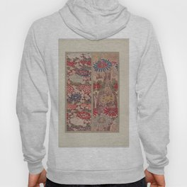 Verneuil - Japanese paper and fabric designs (1913) - 16: Chrysanthemums & Peonies Hoody