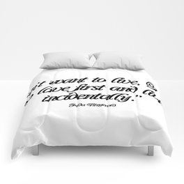 I don't want to live Comforters