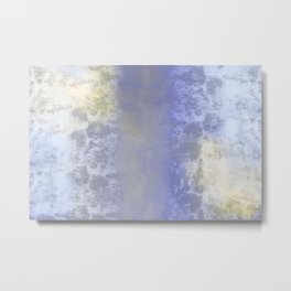 Salted earth abstract- mineral instruction Metal Print