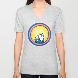 Mooncat Unisex V-Neck
