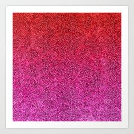 Valentine Glitter Gradient Art Print