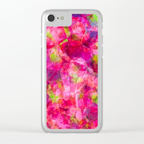 Rose triangles - Pink triangle watercolor pattern Clear iPhone Case