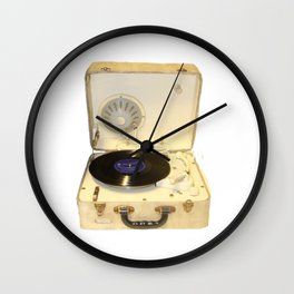 Vintage 20th century Record Player Wall Clock