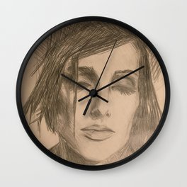 Home Decor Drawing a Woman Digital Art Living room Decoration Original Wall Print Wall Clock