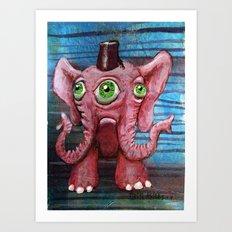Pachyderm Goes Both Ways Art Print