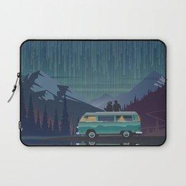 Retro Camping under the stars Laptop Sleeve