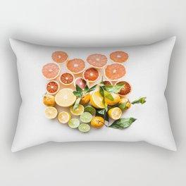 Lemon orange leaf Rectangular Pillow