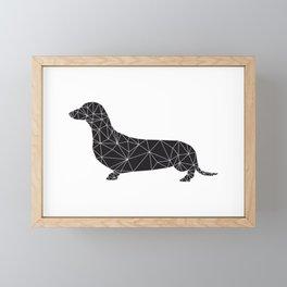 black teckel Framed Mini Art Print