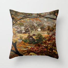 Shirakawago Throw Pillow