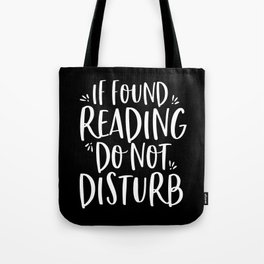 If Found Reading (B+W II) Tote Bag