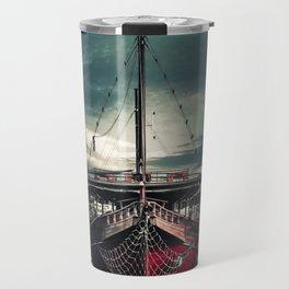 Sailboat in harbor Travel Mug