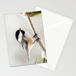 Winter Chickadee Painting Stationery Cards