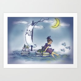 Sailing Sale Art Print