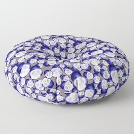Blue Pansy  Floor Pillow