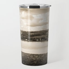 Cityscape Möhne From Reservoir Barrage Wall 2 sepia Travel Mug