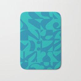 Chamber Music - Blue Musical Notes Tiles Bath Mat