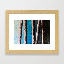 Acrylic Birches Framed Art Print