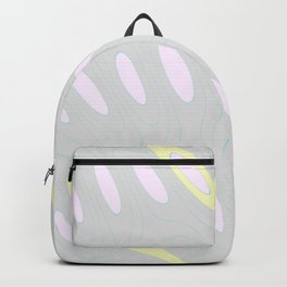 Geo Flow Gray Pink Yellow Backpack