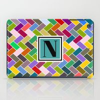 monogram iPad Cases featuring N Monogram  by mailboxdisco