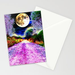 Moonlight Pathway Stationery Cards