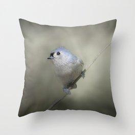 Little Tufted Titmouse Throw Pillow