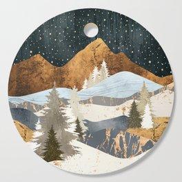 Winter Stars Cutting Board