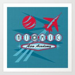 Atomic Aero Academy Art Print