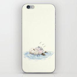 sea otter's birthday iPhone Skin