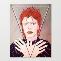 david bowie Canvas Prints featuring David Bowie by Artsy Fandango