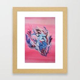 Flower in the sea Framed Art Print