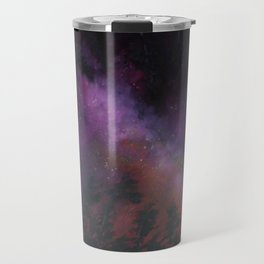 Milky Way Night Sky in Purples and Orange Travel Mug