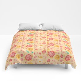 Peach Roses Comforters