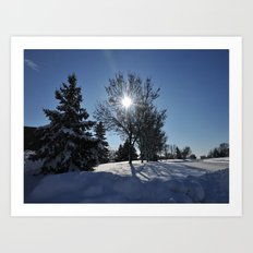 After The Snow 3 Art Print