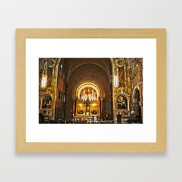A Holy Glow Framed Art Print