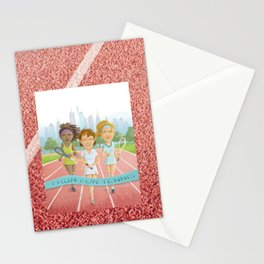 I Run for Tennis Stationery Cards