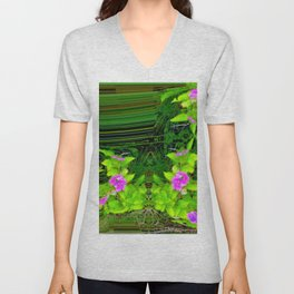 Another view into garden ... Unisex V-Neck