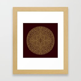 Puzzled (Moroccan Mandala) Framed Art Print