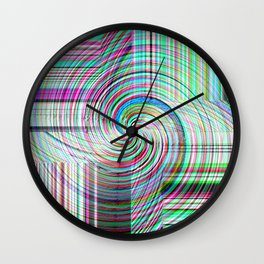 Variegated Frosted Glass Wall Clock