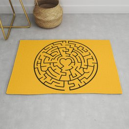 Smiling Happy Face Maze Rug