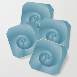 Blue Spiral: digital art Coaster