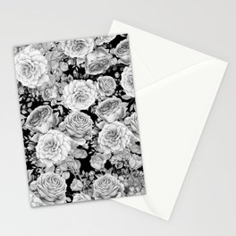 ROSES ON DARK BACKGROUND Stationery Cards