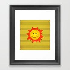 Smiling Happy Sun Framed Art Print