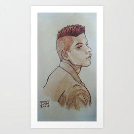 Rami Malek Art Print