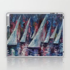 Sailboats (Palette Knife) Laptop & iPad Skin
